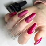Гель-лак фуксия на ногтях - Black Swan гипоаллергенные материалы для дизайна и наращивания ногтей