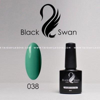 Бирюзовый гель-лак Black Swan 038