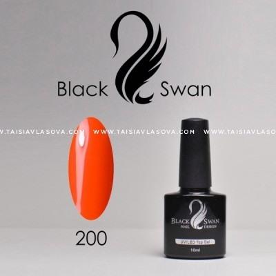 Насыщенный оранжевый гель-лак Black Swan 200