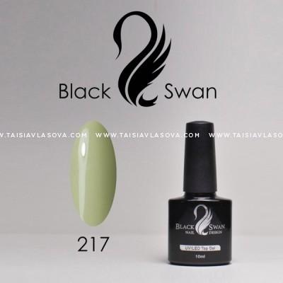 Купить каучуковый светлый зеленый гель-лак Black Swan 217