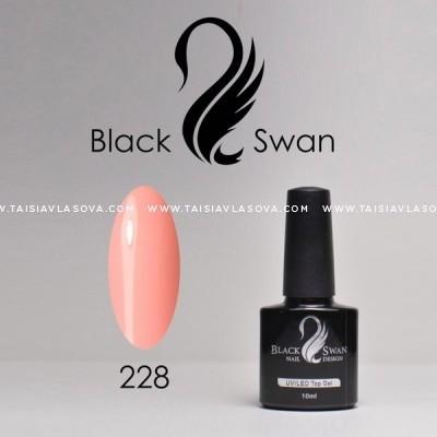 Светлый кораллово-розовый гель-лак Black Swan 228