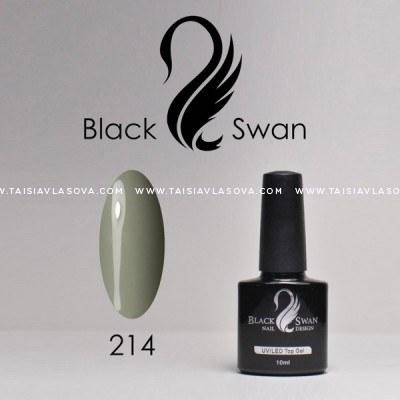Купить серый гель-лак Black Swan 214