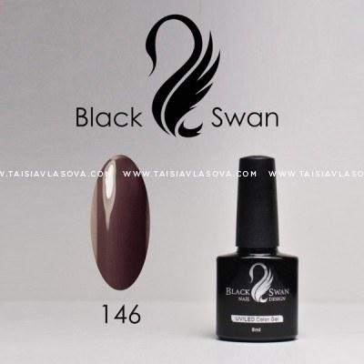 Темно-бордовый гель-лак Black Swan 146