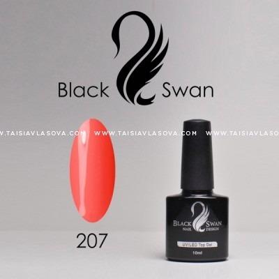 Яркий коралловый гель-лак - купить Black Swan 207