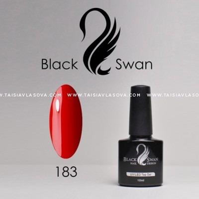 Гель-лак красного цвета Black Swan 183