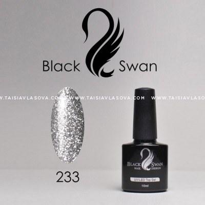 Купить серебристый гель-лак с блестками - Black Swan 233