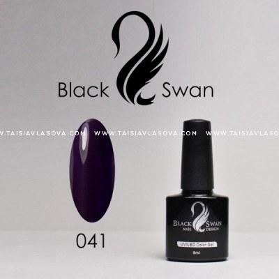 Темно-фиолетовый гель-лак Black Swan 041