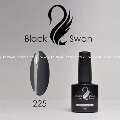 Темно-серый гель-лак Black Swan 225