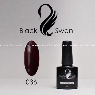 Темный бордовый гель-лак Black Swan 036