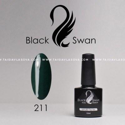 Купить темный зеленый гель-лак Black Swan 211