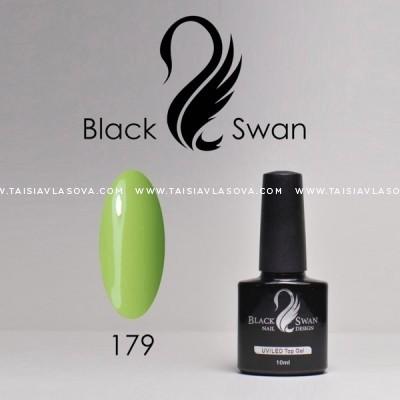 Зеленый гель-лак Black Swan 179