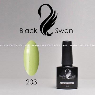 Светло-зеленый гель-лак - купить Black Swan 203