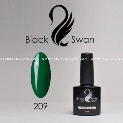 Темно-зеленый гель-лак - купить Black Swan 209