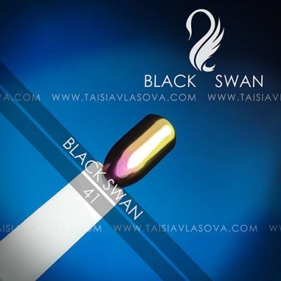Зеркальный пигмент для ногтей купить - втирка Black Swan