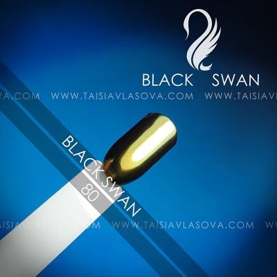 """Втирка """"майский жук"""" для дизайна ногтей - цветной пигмент хамелеон Black Swan 80"""