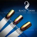 Оттенки золотых пигментов - цветные втирки для дизайна ногтей Black Swan 42 43 73