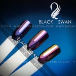 Цвета пигментов для дизайна ногтей Black Swan 62 30 41