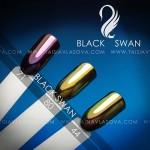 Цвета зеркальных пигментов Black Swan 71 80 44