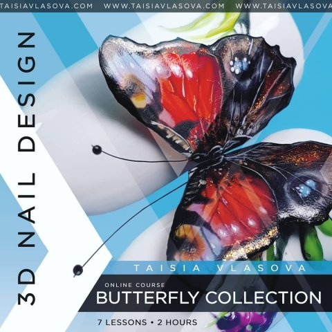 Онлайн курс 3D дизайна ногтей — Butterfly Collection
