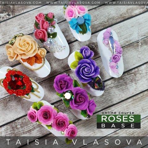 Базовый онлайн-курс лепки гелем пластилином — Roses Base