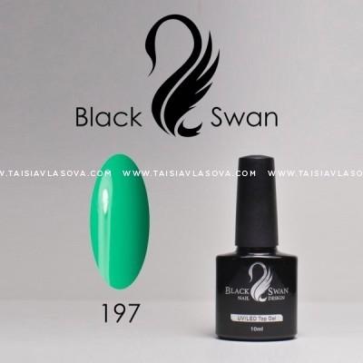 Бирюзовый гель-лак - купить Black Swan 197