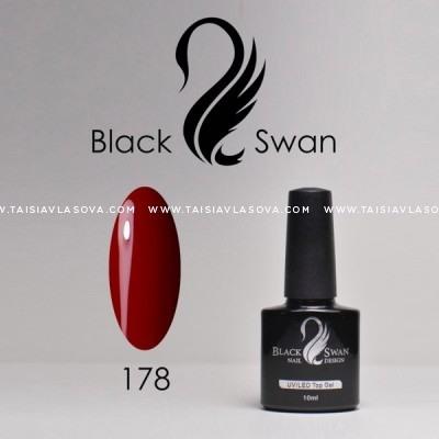 Темный красный гель-лак Black Swan 178 - магазин гипоаллергенных материалов для ногтевого сервиса