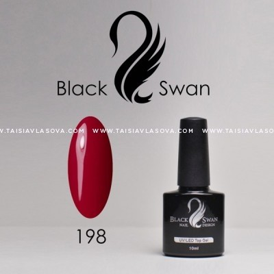 Бордовый гель-лак - купить Black Swan 198