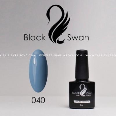 Голубой гель-лак Black Swan 040