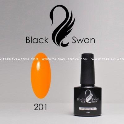 Яркий оранжевый гель-лак - купить Black Swan 201