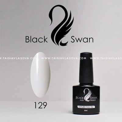 Серовато белый гель-лак Black Swan 129