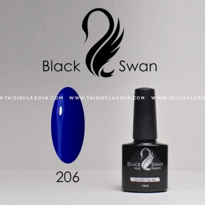 Синий гель-лак - Black Swan 206