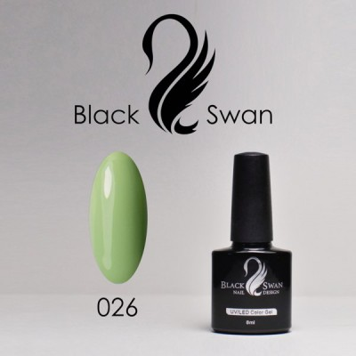 Светло-зеленый гель-лак Black Swan 026
