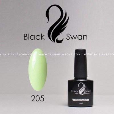 Пастельный светло-зеленый гель-лак Black Swan 205