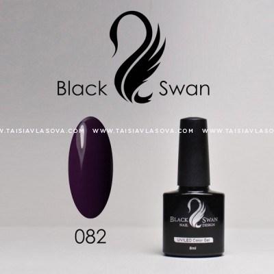 Темный пурпурный гель-лак Black Swan 082