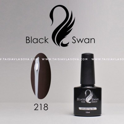 """Купить темный коричневый гель-лак Black Swan 218 - """"Темный шоколад"""""""