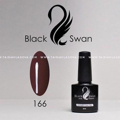 Темный коричневый гель-лак - Black Swan 166