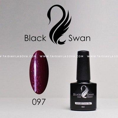 Темный пурпурно-красный гель-лак Black Swan 097