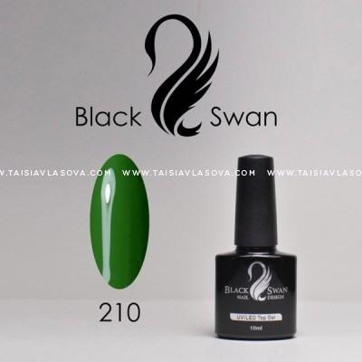 Зеленый гель-лак - купить Black Swan 210