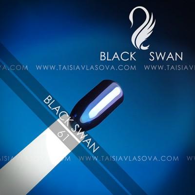 Зеркальная втирка для ногтей Black Swan - пигмент хамелеон цвет 61