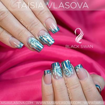 """Пигмент """"Северное сияние"""" - Втирка """"Призма"""" для дизайна ногтей Black Swan 20"""