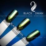 Оттенки пигмента майский жук - втирка Black Swan зеленых оттенков 52 51 10