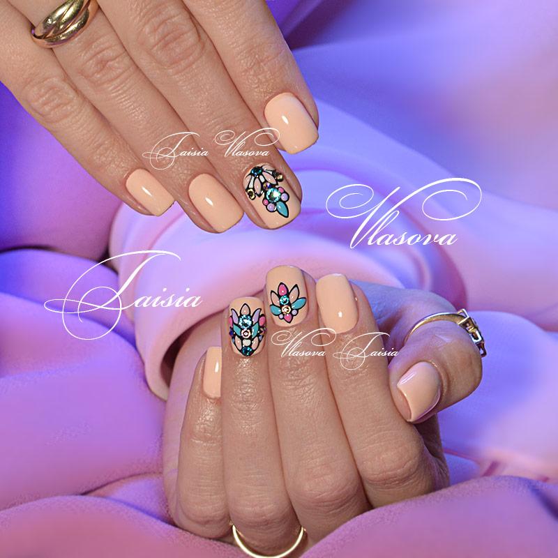 Свит блум дизайн ногтей фото