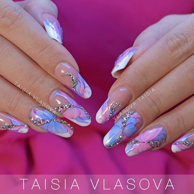 Цветной френч на ваших ногтях: разноцветный