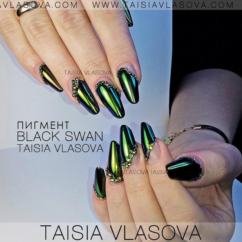 Дизайн ногтей втирка жемчужина