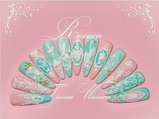 Курс барельефного дизайна ногтей гелем